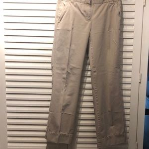 J.Crew classic twill chinos- size 6